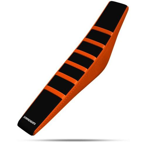 KTM 85 SX 2018 - 2020 STRIKE GRIPPER RIBBED SEAT COVER ORANGE-BLACK-ORANGE