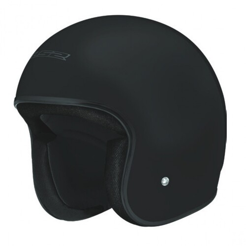 LS2 OF510 JET SOLID NO STUD OPEN FACE MOTORCYCLE HELMET MATTE BLACK