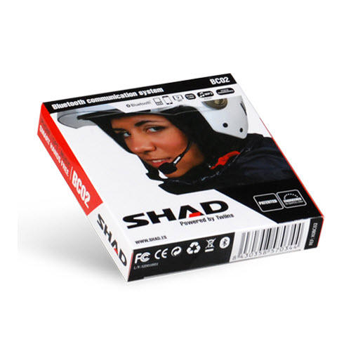 SHAD HANDS-FREE BLUETOOTH MOTORCYCLE INTERCOM COMMUNICATIONS SYSTEM BC02