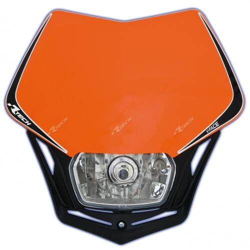 KTM 450 EXC-F  -  RACETECH UNIVERSAL V-FACE ENDURO HEADLIGHT ORANGE