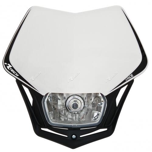 KTM 450 EXC-F  -  RACETECH UNIVERSAL V-FACE ENDURO HEADLIGHT WHITE