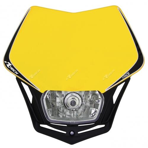 HUSQVARNA TE250  -  RACETECH UNIVERSAL V-FACE ENDURO HEADLIGHT YELLOW