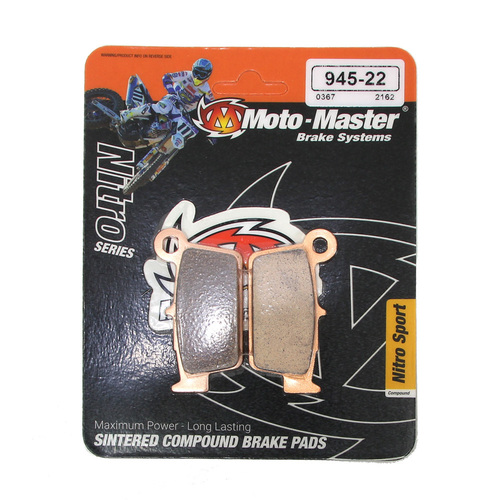 BETA 350 RR 2013 - 2018 MOTO-MASTER NITRO SINTERED REAR BRAKE PADS