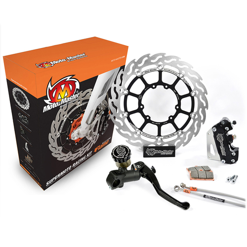 KTM 500 EXC 2012-2016 (WITH HEADLIGHT) MOTO MASTER FRONT SUPERMOTO FLAME BRAKE KIT 320MM