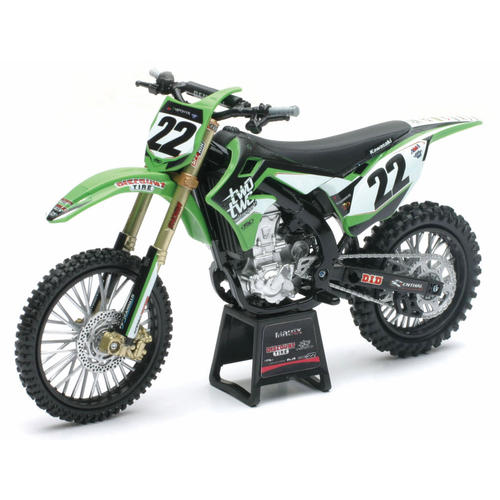 DIECAST CHAD REED TWO TWO 22 KAWASAKI KX450F NEWRAY TOY MOTOCROSS MODEL 1:12