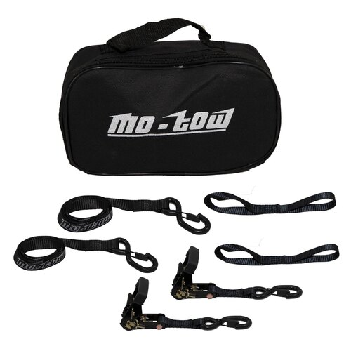 MO-TOW RATCHET TIE DOWN STRAPS MOTORCYCLE BLACK TIE DOWNS