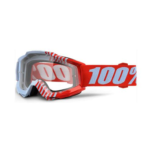 100% PERCENT ACCURI CUP COY KIDS MOTOCROSS MX GOGGLES - ORANGE
