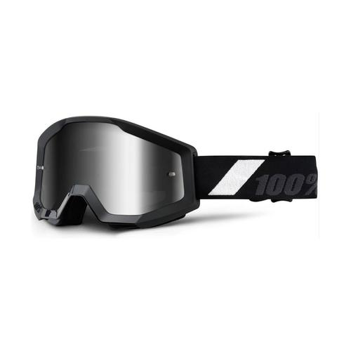 100% PERCENT STRATA MX MOTOCROSS GOGGLES GOLIATH TINTED BLACK