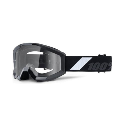 100% PERCENT STRATA JUNIOR GOLIATH KIDS MOTOCROSS MX GOGGLES - BLACK