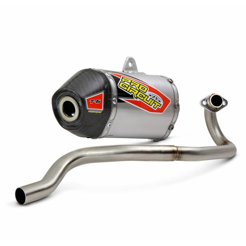 PRO CIRCUIT EXHAUST KLX110 KLX110L 2010 - 2020 T6 FULL SYSTEM CARBON END CAP