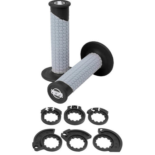 PRO TAPER CLAMP LOCK ON GRIPS BLACK/GREY PILLOW TOP