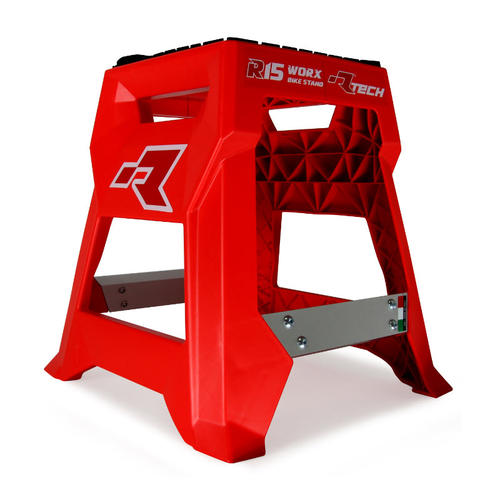 RTECH R15 MOTORCYCLE WORX BIKE STAND RED