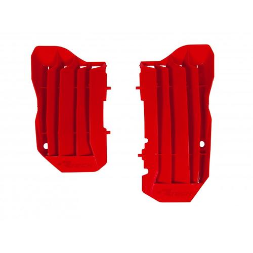 HONDA CRF450R 2017 - 2018 RACETECH RED OVERSIZE RADIATOR LOUVRES PROTECTORS