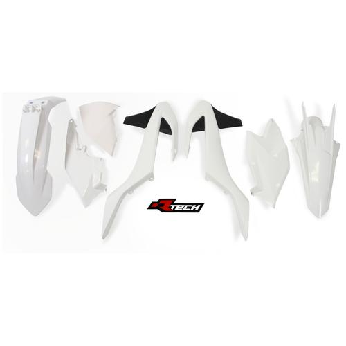 KTM450 EXC-F 2017 RACETECH WHITE BLACK 6 DAYS PLASTICS KIT - KTM 450 EXC