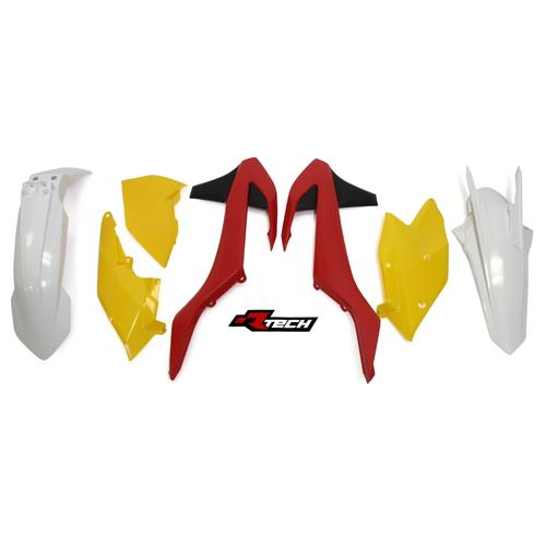 KTM250 EXC 2017 RACETECH VINTAGE RED YELLOW PLASTICS KIT - KTM 250 EXC