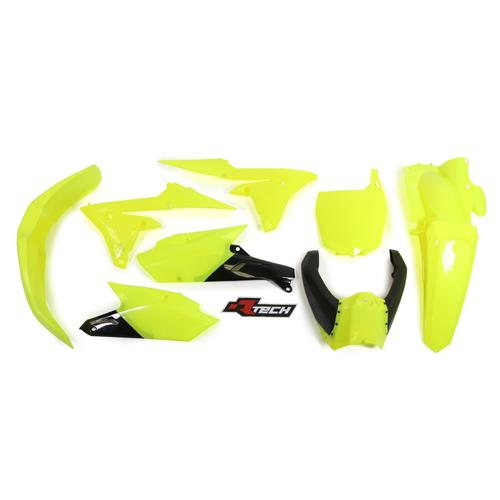 YAMAHA YZ450F 2014 - 2017 RACETECH NEON YELLOW PLASTICS KIT (INC UPPER)