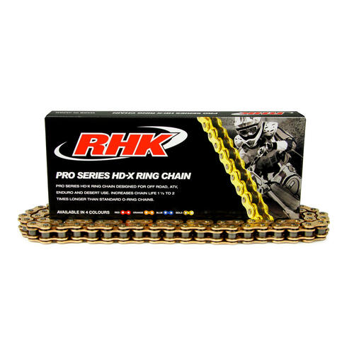 SUZUKI DRZ250  -  RHK 520 HEAVY DUTY GOLD X-RING CHAIN