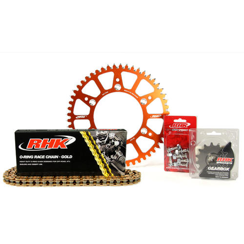 KTM 250 EXC-F 2007 - 2020 13T/51T RHK O-RING CHAIN & ORANGE ALLOY SPROCKET KIT