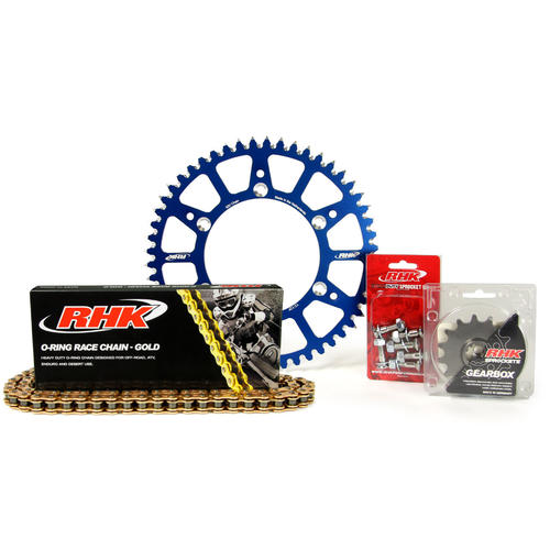 YAMAHA YZ250F 2001 - 2020 13T/50T RHK O-RING CHAIN & BLUE ALLOY SPROCKET KIT