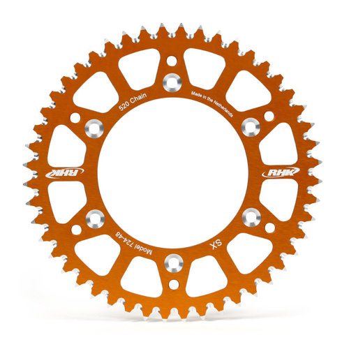 KTM 125 EXC 1991 - 2020 48T RHK ALLOY REAR SPROCKET ORANGE