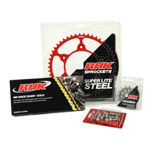HONDA CR125 2004 - 2007 13T / 49T RHK MX CHAIN & SPROCKET KIT