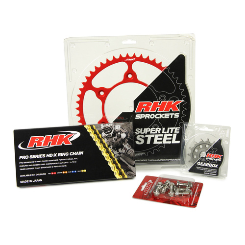 HONDA CR250 1988 - 2007 13T / 52T RHK X-RING CHAIN & SPROCKET KIT