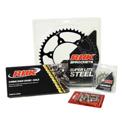 HONDA CRF450R 2005 - 2015 13T / 47T RHK O-RING CHAIN & BLACK STEEL SPROCKET KIT