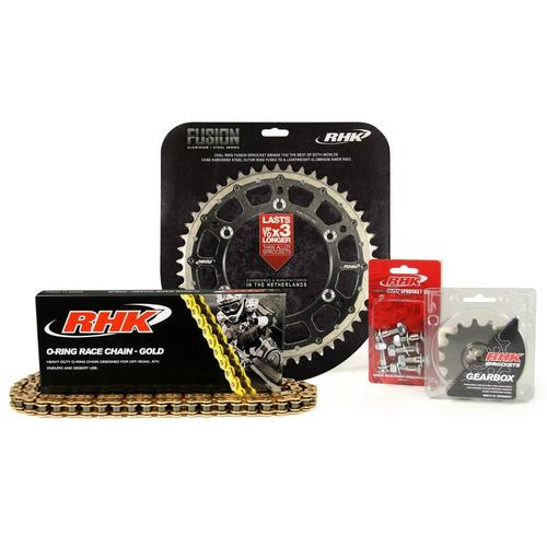 KAWASAKI KX450F 2006 - 2020 13T/49T RHK O-RING CHAIN & BLACK FUSION SPROCKET KIT