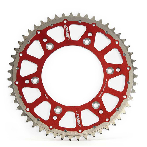 HONDA CRF250RX 2019 - 2021 RHK FUSION REAR SPROCKET ALLOY/STEEL RED 52T
