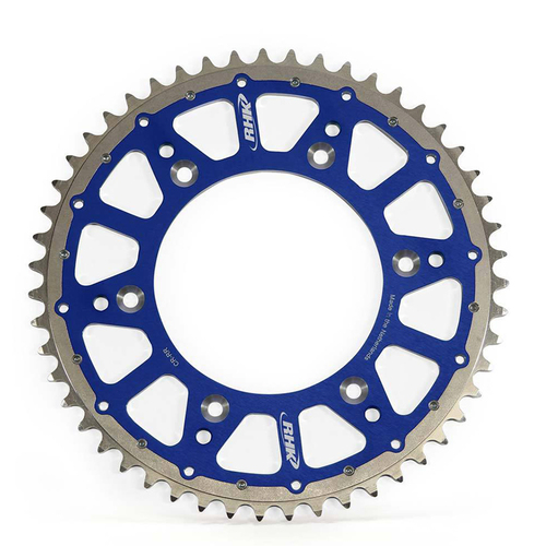 KTM 125 EXC 1995 - 2021 RHK FUSION REAR SPROCKET ALLOY/STEEL BLUE 52T