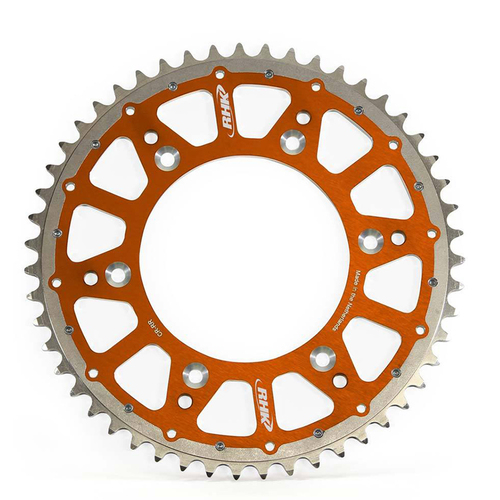 KTM 250 XC TPI 2020 - 2021 RHK FUSION REAR SPROCKET ALLOY/STEEL ORANGE 52T
