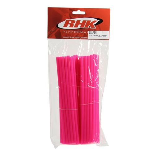 SUZUKI RMZ250  -  RHK FRONT & REAR WHEEL SPOKE WRAPS COVERS - PINK