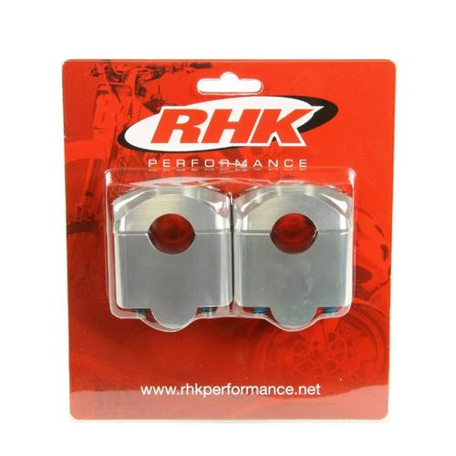 RHK SILVER STD 7/8 HANDLEBAR 35MM RISER CLAMPS ADAPTOR MOUNTS