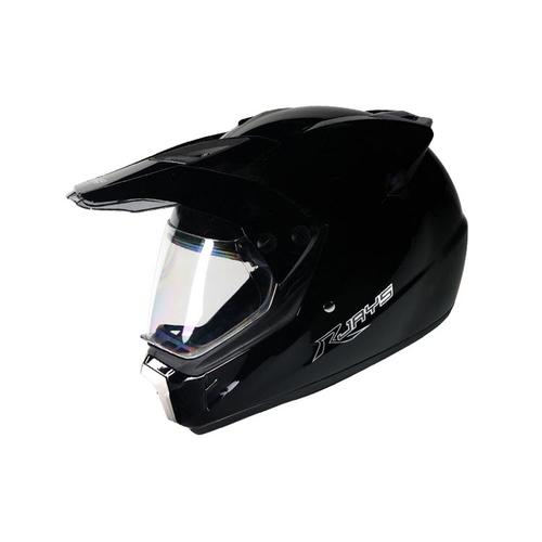 RJAYS DAKAR ADVENTURE OFFROAD ENDURO DUAL PURPOSE MOTORCYCLE HELMET - GLOSS BLACK