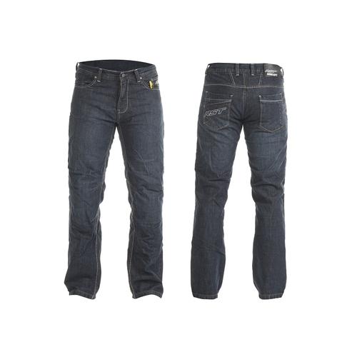 RST MENS ARAMID MOTORCYCLE RIDING JEANS BLUE