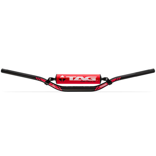 TAG RED T1 TAPERED YAMAHA / HONDA LOW FACTORY BEND HANDLEBAR WITH CROSS BAR