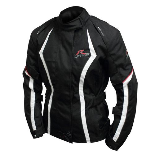 RJAYS OPAL III MOTORCYCLE JACKET LADIES BLACK/WHITE/RED LARGE