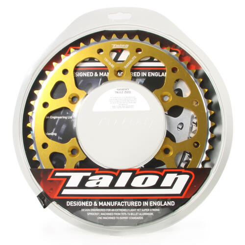 KAWASAKI KX80 1986 - 2001 57T TALON ALLOY REAR SPROCKET GOLD