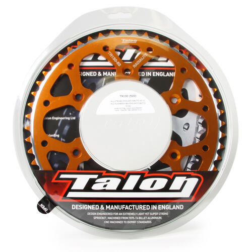 KTM 125 EXC 1991 - 2020 50T TALON ALLOY REAR SPROCKET ORANGE