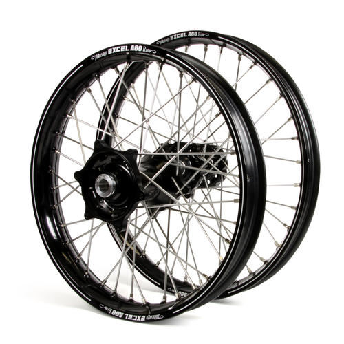 KTM 250 XC 2015 - 2019 WHEEL SET BLACK EXCEL A60 SNR MX RIMS / BLACK TALON HUBS 21 / 19x2.15