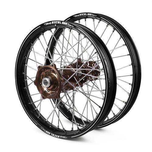 KTM 300 XC 2015 - 2021 WHEEL SET BLACK EXCEL A60 SNR MX RIMS MAG TALON HUBS 21/19x2.15