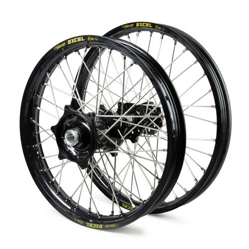 GAS GAS EC250F 2010 - 2015 WHEEL SET BLACK / EXCEL SNR MX RIMS TALON BLACK GAS HUBS 21 / 18x2.15