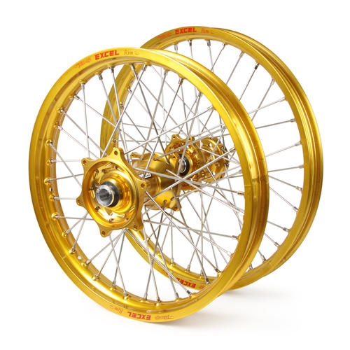 HUSQVARNA FX450 2016 - 2019 WHEEL SET GOLD EXCEL SNR MX RIMS / GOLD TALON HUBS 21 / 18x2.15