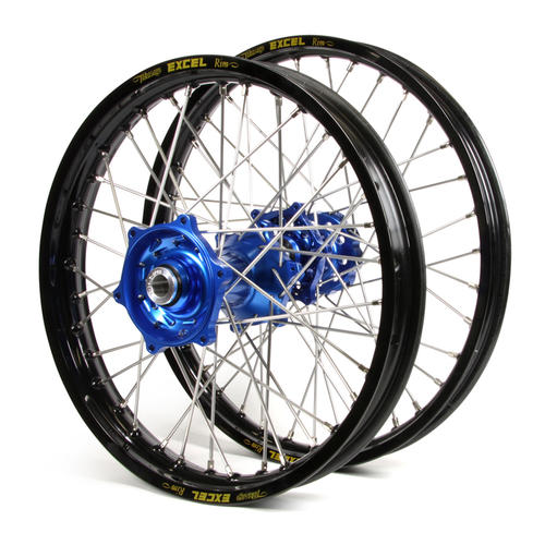 KTM 350 XC-F 2015 - 2019 WHEEL SET BLACK EXCEL SNR MX RIMS / BLUE TALON HUBS 21 / 19x2.15
