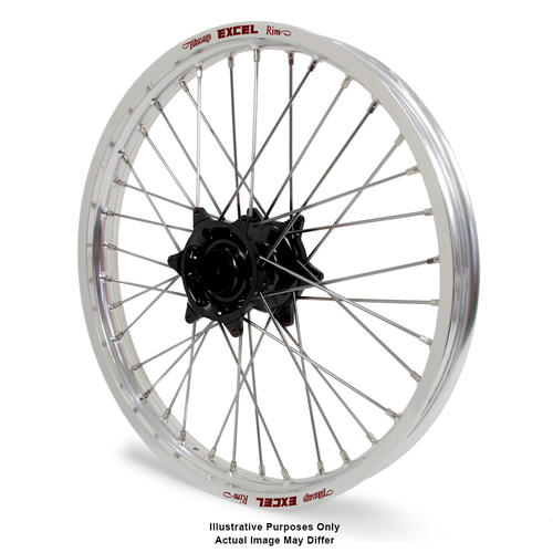 KTM 1190 2013 - 2016 ADVENTURE FRONT WHEEL SILVER EXCEL RIMS BLACK TALON HUBS 19x2.5