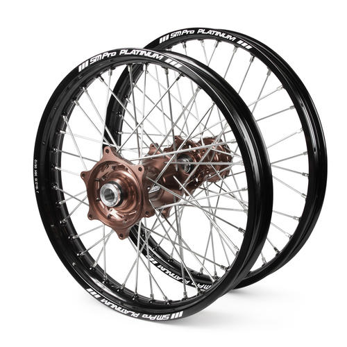 KTM 300 XC 2015 - 2019 WHEEL SET BLACK PLATINUM SNR MX RIMS / MAG TALON HUBS 21 / 19x2.15