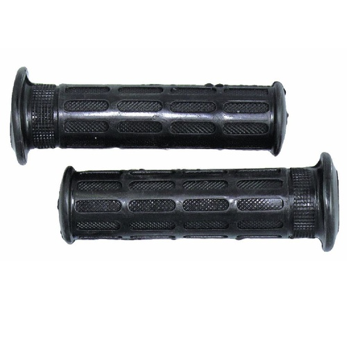 MOTORCYCLE HAND GRIPS - ROAD BIKE - CLOSED ENDS - BLACK - # ZGO010C